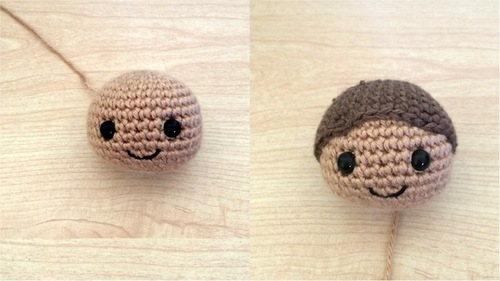 Create Different Characters from a Amigurumi Doll by Changing Hair ... | 281x500