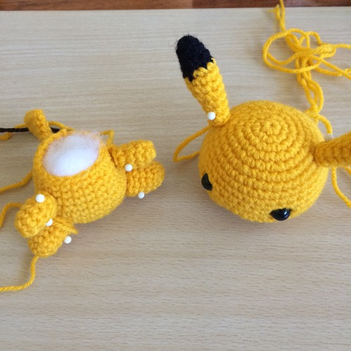 Crochet Pattern of Pikachu from
